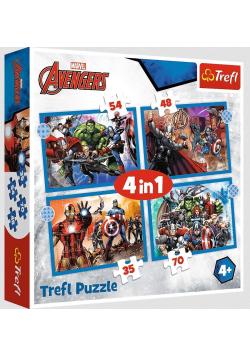 Puzzle 4w1 Odważni Avengersi TREFL