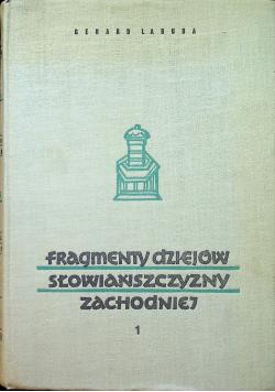 Fragmenty dziejów słowiańszczyzny zachodniej tom 1