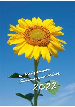 Kalendarz 2022 z ks. Twardowskim - słonecznik