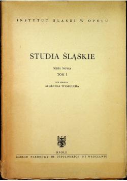 Studia śląskie tom 1