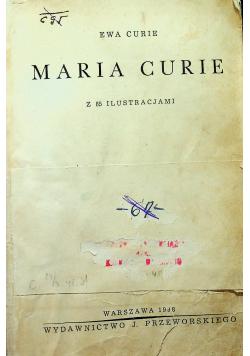 Maria Curie z 85 ilustracjami 1938 r.
