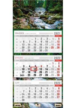 Kalendarz 2022 trójdzielny Strumyk