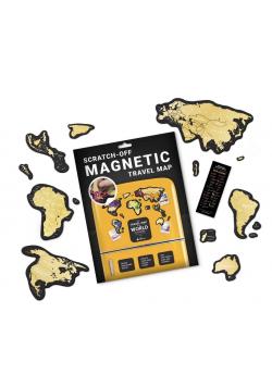 Mapa zdrapka magnet. - Travel Map Magnetic World