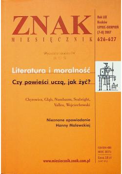 Znak nr 626 - 627 Literatura i moralność