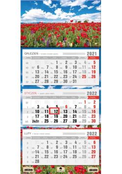Kalendarz 2022 trójdzielny Maki