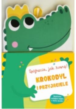 Książka z miarką wzrostu. Krokodyl