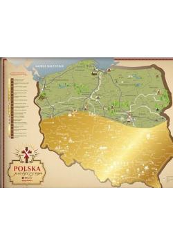 Mapa zdrapka - Travel Map Polska Pielgrzyma