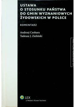 Ustawa o stosunku państwa do gmin wyznaniowych żydowskich w polsce