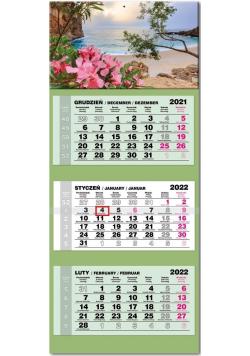 Kalendarz 2022 trójdzielny lux Sardynia