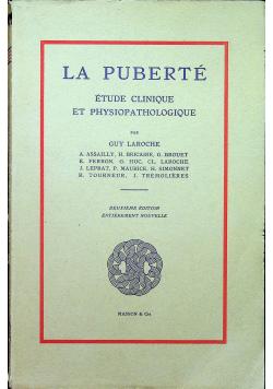 La Puberte etude clinique et physiopathologique