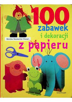 100 zabawek i dekoracji z papieru