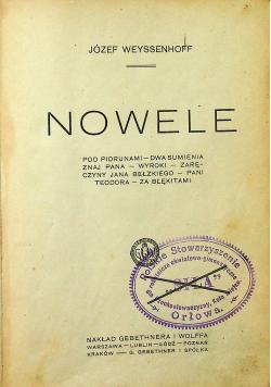 Weyssenhoff Nowele 1920 r.