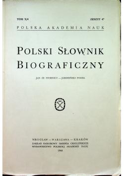 Polski Słownik Biograficzny tom X / 4