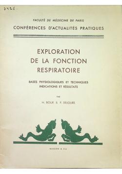 Exploration de la fonction respiratoire