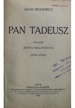 Pan Tadeusz 1921 r.