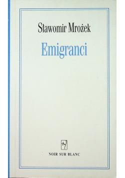 Emigranci plus autograf Mrożek