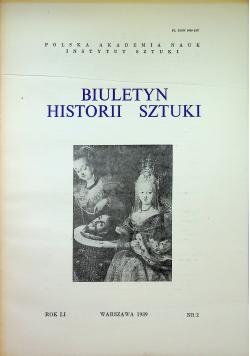 Biuletyn historii sztuki nr 2  rok LI