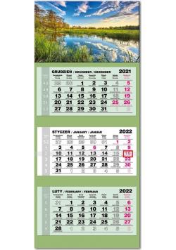 Kalendarz 2022 trójdzielny lux Jezioro