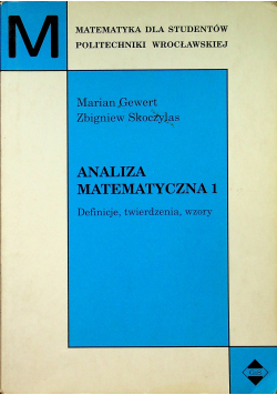 Analiza matematyczna 1 Definicje twierdzenia wzory