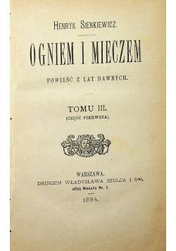 Ogniem i mieczem Tom III I wydanie 1884 r.