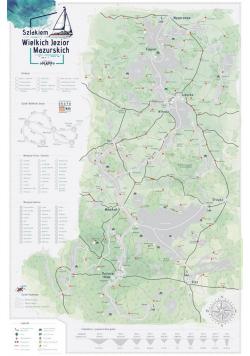 Mapa zdrapka - Mazury