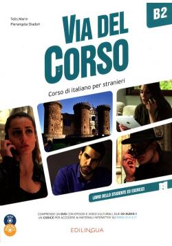 Via del Corso B2 podręcznik + ćwiczenia + 2 CD