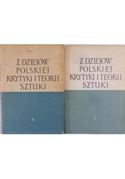 Z dziejów polskiej krytyki i teorii sztuki tom 1 i 2