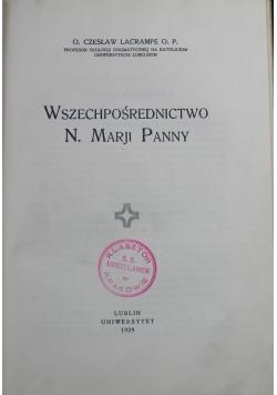 Wszechpośrednictwo N Marji Panny 1929 r.