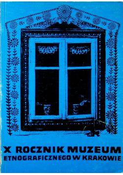 X rocznik muzeum etnograficznego w Krakowie