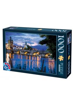 Puzzle 1000 Praga, Widok na most Karola