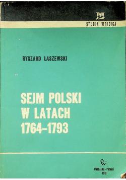 Sejm Polski w latach 1764 - 1793