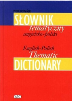 Słownik tematyczny angielsko  polski