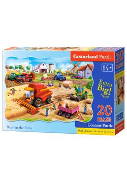 Puzzle Maxi konturowe Work in the Farm 20