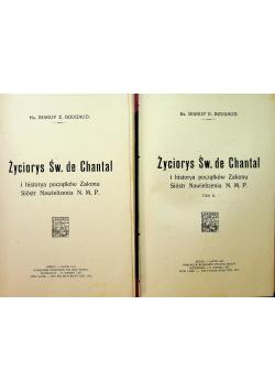 Życorys Św de Chantal Tom I i II 1914 r.