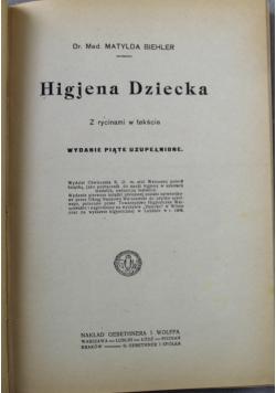 Higjena dziecka 1921 r