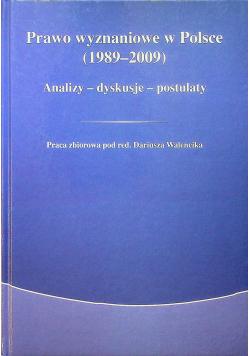 Prawo wyznaniowe w Polsce 1989 - 2009