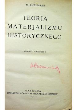 Teorja materjalizmu historycznego 1936 r.