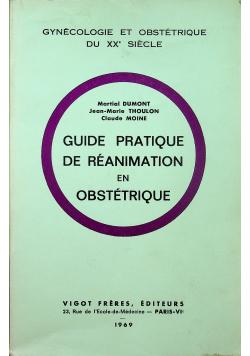 Guide pratique de reanimation en obstetrique