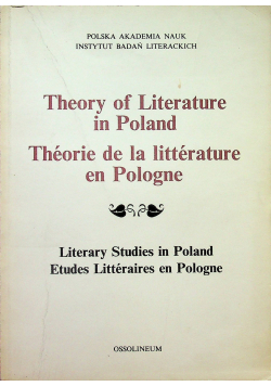 Theory of Literature in Poland