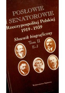 Posłowie i senatorowie Rzeczypospolitej Polskiej 1919  1939 Słownik biograficzny Tom I A D