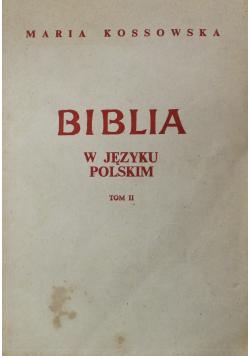 Biblia w języku polskim Tom II