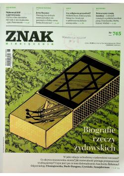 Znak miesięcznik Nr 745 Biografie rzeczy żydowskich