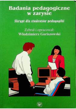 Badania pedagogiczne w zarysie