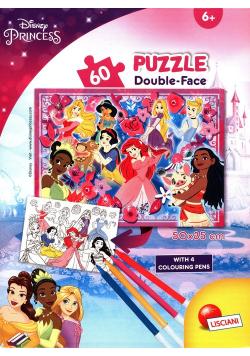 Puzzle mini w tubie 60 elementów Księżniczki