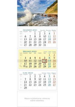 Kalendarz 2022 trójdzielny KT 02 Bałtyk