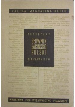 Podręczny słownik łacińsko polski dla prawników