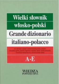 Wielki słownik włosko polski A E