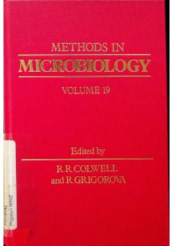 Methods in microbiology Volume 19