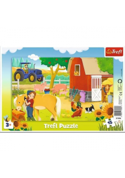 Puzzle ramkowe 15 Na farmie TREFL