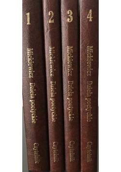 Mickiewicz Dzieła poetyckie tomy od I do IV